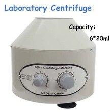6x20ml Laboratory Centrifuge 110V/220V 4000rpm Desktop Electric Medical Lab Centrifuge Model 800-1