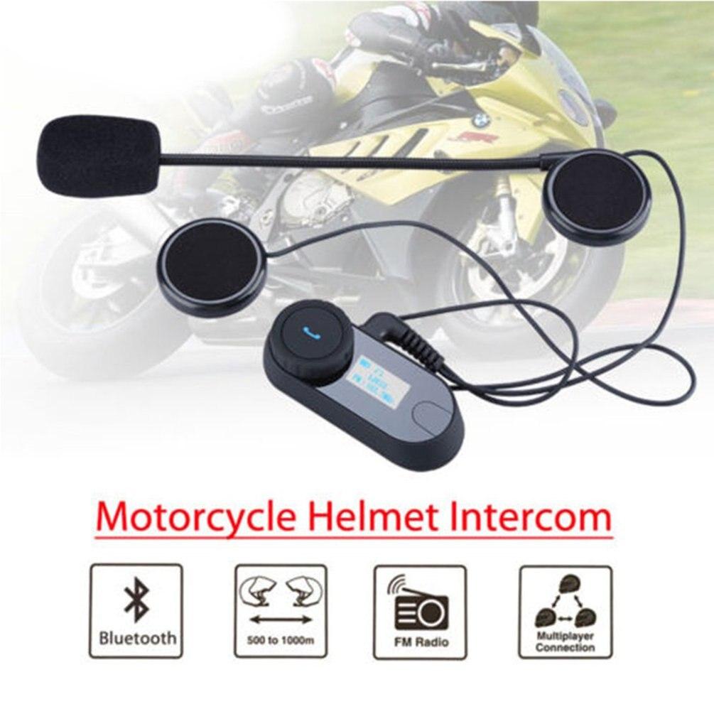 TCOM-SC Drahtlose Bluetooth Motorrad Sprech Headset 800 Meter Reichweite Helm Intercom LCD Bildschirm mit FM Radio