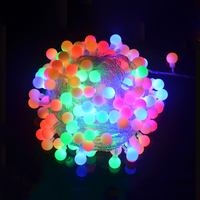 AC110V 220V 10M 100 LED Balls Globes Fairy String Light Waterproof Chirstmas Halloween Holiday Festival Party