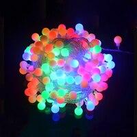 AC110V/220 V 10 M 100 LED Balls Giải Quả Cầu Tiên String Ánh Sáng Không Thấm Nước Chirstmas Halloween kỳ nghỉ Lễ Hội Party Chuỗi vòng hoa