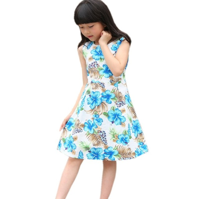7be4cb43ff0 Bébé filles robe florale fille coton été princesse fête d anniversaire robes  2-12Yrs