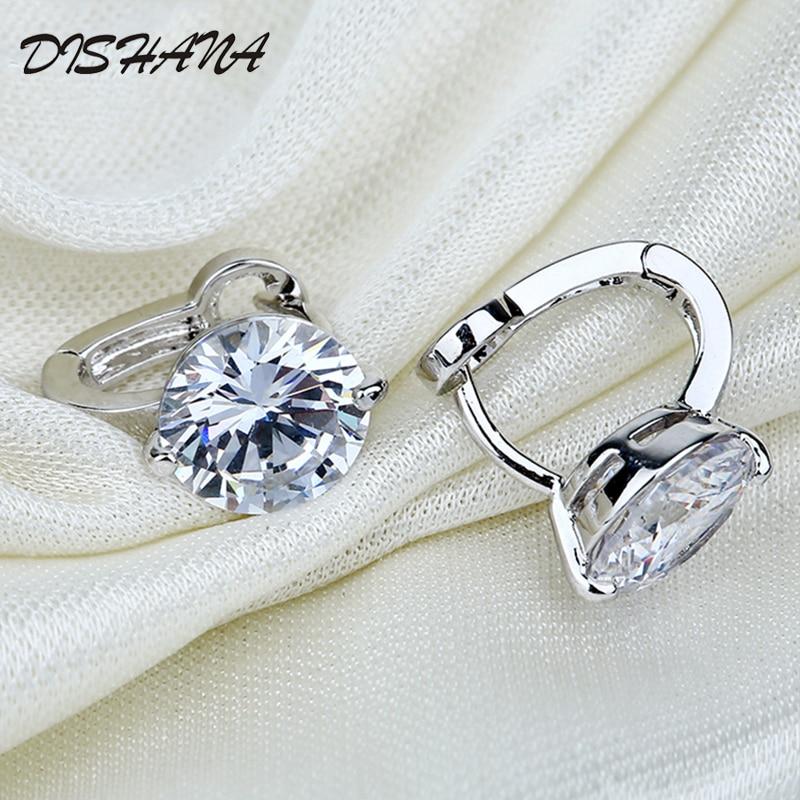 Kullavärvi väikesed kõrvarõngad valgemad kristall ehted bränd - Mood ehteid - Foto 4
