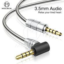 MOOJECAL 3.5mm Jack Audio Cable Jack Male to Male Metal Audio Aux Cable For Samsung S10 Car Headphone Speaker Wire Line Aux Cord 3 5mm jack to 3rca audio video cable aux stereo cord male to male av line wire for speaker laptop cd dvd player tv box accessori