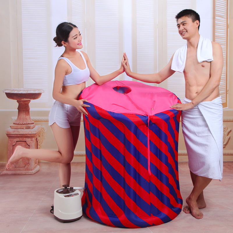 Size:90*110cm,with Electric Pump,Steam sauna Box Khan SteamRoom Household Remote Control Steel pot 220V