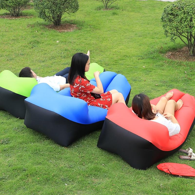 Ultralight laybag Beach <font><b>bed</b></font> Banana <font><b>bed</b></font> Air Sofa Lounger inflatable mattress sleeping bag lazy bag Camping party music Festival