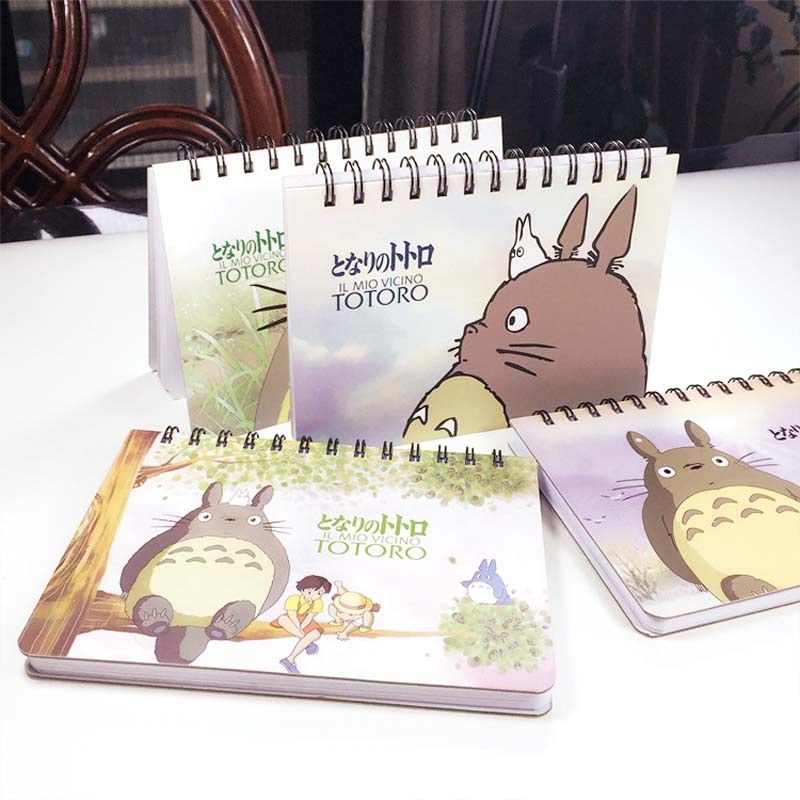 JOUDOO Cartoon My Neighbor Totoro Print Notebook Spirale Daily Memos Schedule Planner Notepad Journal Office Supplies Gifts joudoo vintage classic galaxy night sky printed note book for kids daily week planner notebook school office supplies notepad