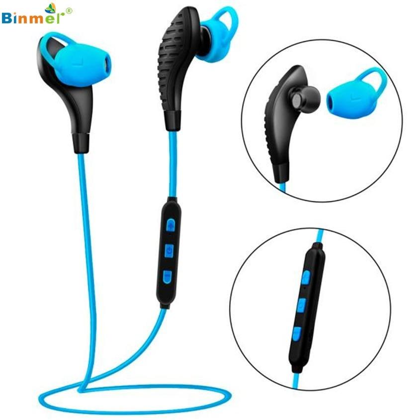 Binmer Superior Quality Wireless Bluetooth Sports Stereo Headset Headphone Earphone For Smart Phone Sept12