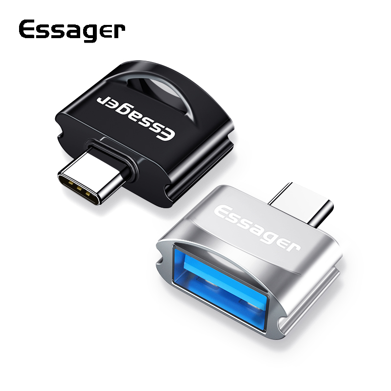 Essager USB Type C OTG Adapter For Samsung S10 Xiaomi mi 9 Oneplus 7 Pro 6t USBC Connector USB-C Type-C To USB 3.0 OTG Converter(China)