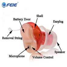 Micro Digital Audiphone Ear Canal Hearing Aid, Listening Assistance for Hearing Weak People, Programming Deaf Aid S-12A