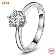 YFN 2016 Nueva Moda Plata de Ley 925 Anillos Para Las Mujeres con Piedras Calientes anelli donna Anillos de Moda de Joyería De Plata boda