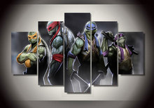 2017 Cuadros Direct Selling Paintings Wall Art unframe Teenage Mutant Ninja Turtles Group Painting Room Decor Print Film Canvas