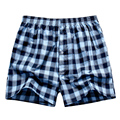 The New Woven Arrow Pants Loose Shorts Men'S Panties Cotton Boxer Male Plus Large Big Size Comfortable Soft Underwear Men Plaid