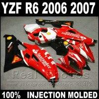 Hot sale body kit for YAMAHA R6 fairing 06 07 Injection molding red black litte white 2006 2007 YZF R6 fairings