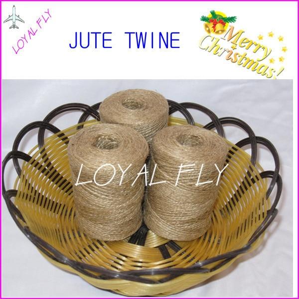 50 stks / partij natuurlijke DIY jute touw / koorden (1.5mm) 100 m / - Feestversiering en feestartikelen