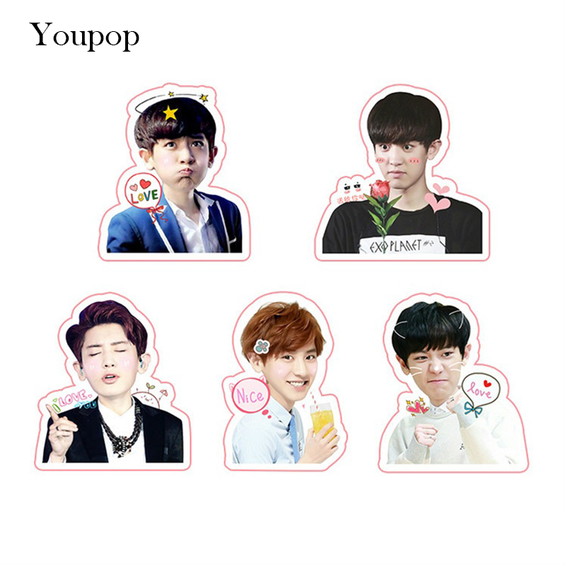 Jewelry & Accessories Jewelry Findings & Components Humorous Kpop Exo Sehun Chanyeol Cute Pvc Sticker For Laptop Cup Notebook Scrapbook Diy Stickers Waterproof Moderate Price