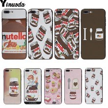 Yinuoda Nutella Chocolate Bottle Black Soft Cover cases For iphone 6 6s 6plus 6S plus 7 7plus 8 8plus 5 5S SE X XS XR MAX