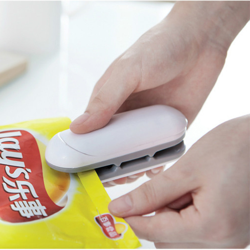 1 Piece Portable Household Mini Heat Sealing Machine Ceramic Impulse Sealer Seal Packing Capper Plastic Bag Sealer