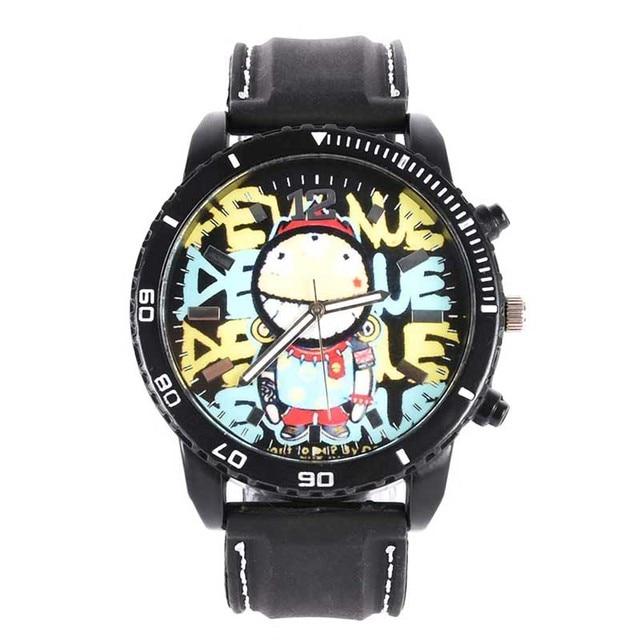 Watch Men Graffiti Silicone Analog Quartz Vogue Casual Wrist Watch Women Watches