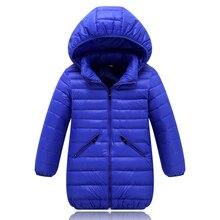 Hiver long manteau pour filles de garçons vestes et manteaux enfants vers le bas veste infantile manteau d'hiver enfants chaud veste garçons vêtements nouveau