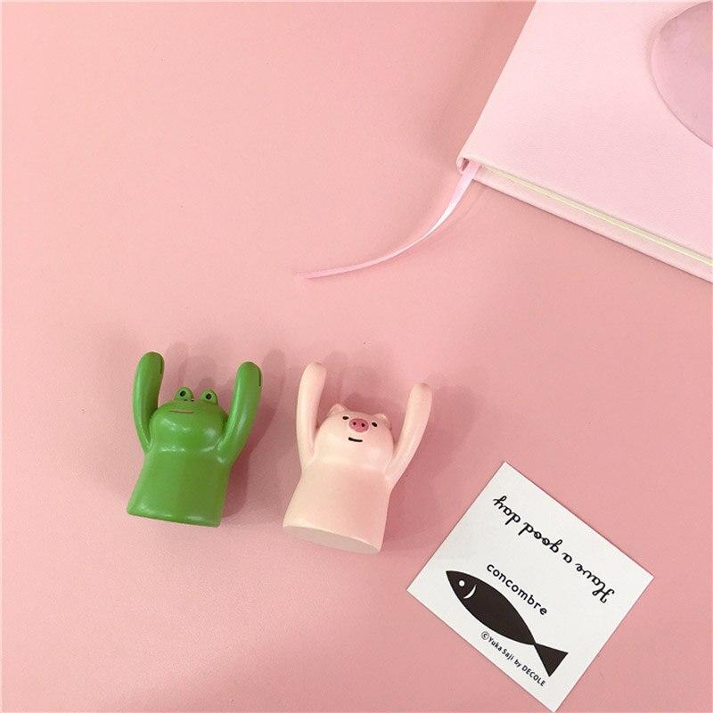 Cute Piggy Frog Panda Black Cat Ceramic Card Holder Namecard Display Clip Holder Photo Holder Office School Home Desk Decoration Office & School Supplies Office Binding Supplies
