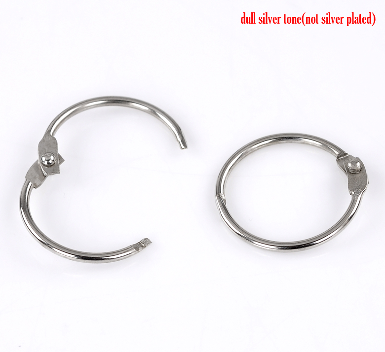 "DoreenBeads Alloy Safety Rings Round Silver Tone 29mm(1 1/8"") Dia, 4 PCs new"