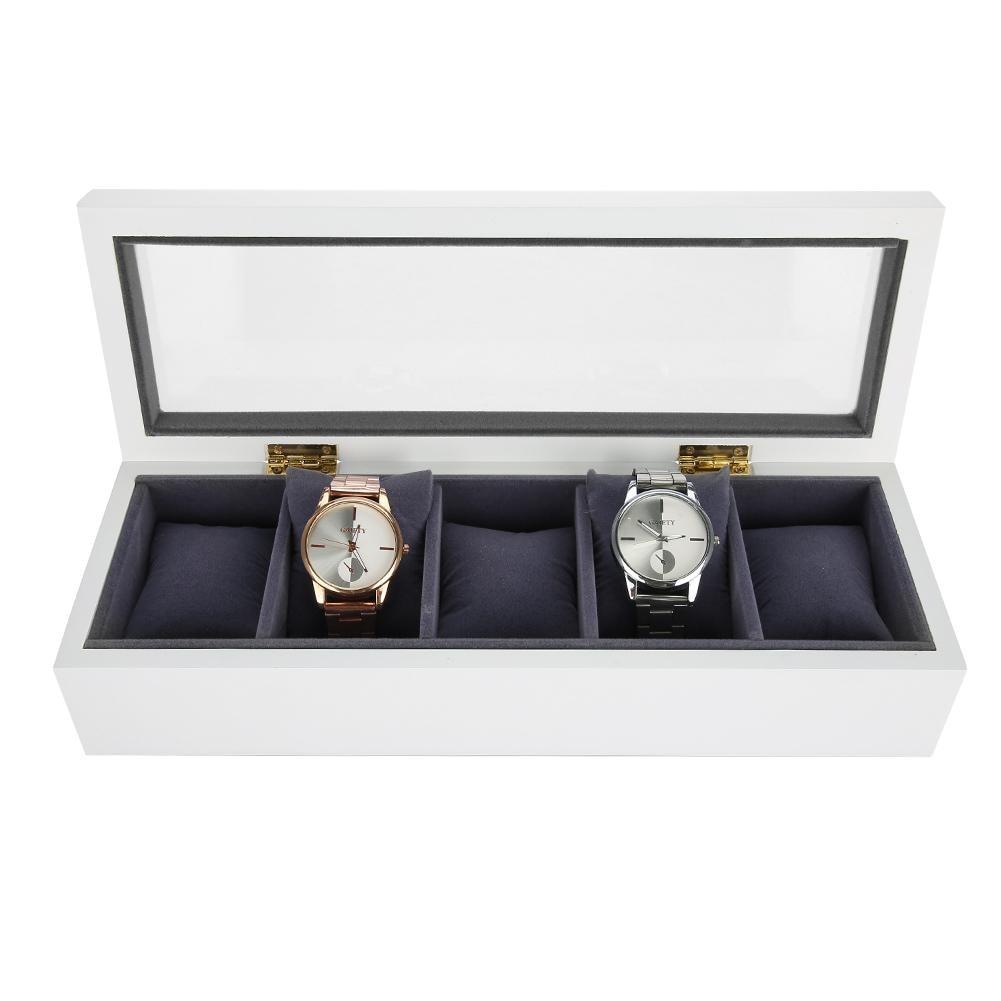 5 Grids Stoving Varnish Watch Display Case Storage Box Organizer Watch Jewelry Display Box display box