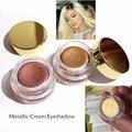 EDIÇÃO de ANIVERSÁRIO de Luxo Creme Sombra Cobre em Ouro Rosa Metálico Glitter Highlighter Pó Paleta de Maquiagem Sombra de Olho Maquiagem