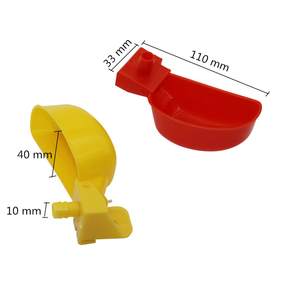 Image 2 - 50 Pcs Poultry Feeding Supplies Quail Water Drinking Bowl Chicken Quail Pigeon Bird Suspension Drinking Fountain-in Feeding & Watering Supplies from Home & Garden
