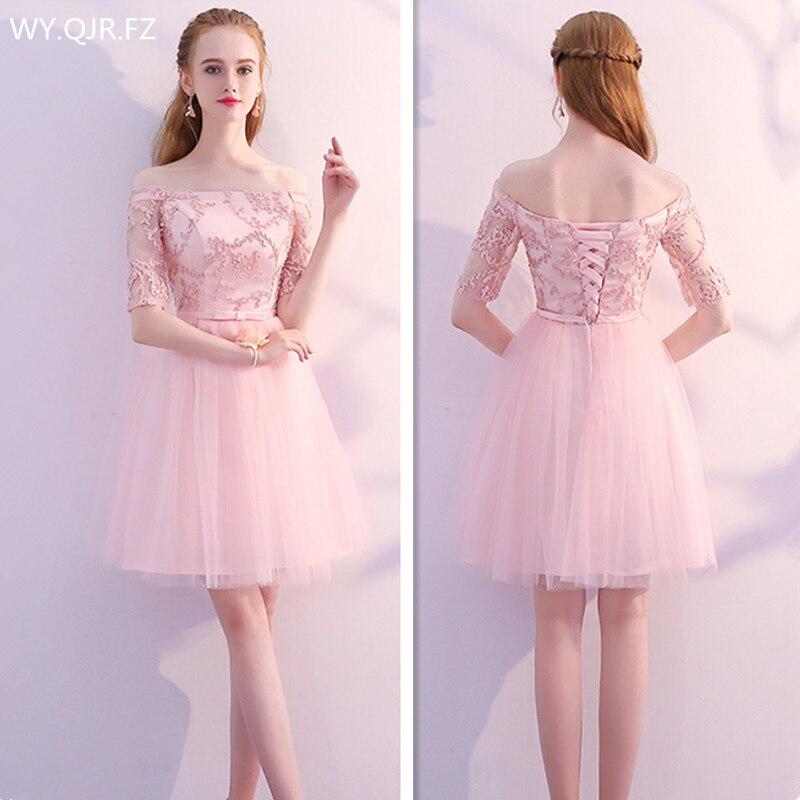 Summer Wedding Dress Pink: Aliexpress.com : Buy KBS70FE#Pink Boat Neck Short Lace Up