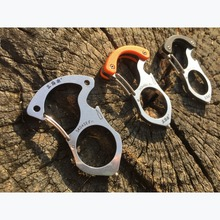 Sanrenmu SK045 multi-functional key chain/ring/buckle edc multi tools outdoor camping survival tools car rescue glass breaker