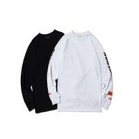 Heron Preston ORGANIC Logo Sweatshirts H Ghosting Heron Style Print Sweatshirt O Neck Men Loose Heron Preston Letter Embroidery