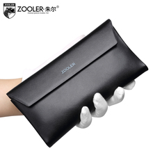 ZOOLER Genuine Leather bag purse super thin super soft Men wallets leather clutch bags  real leather Handbags  #QC-61111A