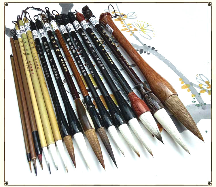 Calligraphy Chinese Traditional Calligraphy Set Brush Landscape Painting Brush Weasel Hair Pen Writing Brush Set for Students 3