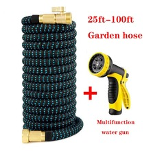 Garden Hose High Quality Expansion Durable Expandable flexible Brass End fittings Home Pressure Car Wash Weapons