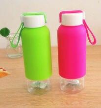 1 UNIDS botella de agua para la venta del sello a prueba de fugas botella de agua de plástico 410 ml