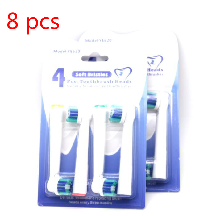 YE620 2 Packs 1143 Cross Action for oral b compatible toothbrush replacement heads 2packs