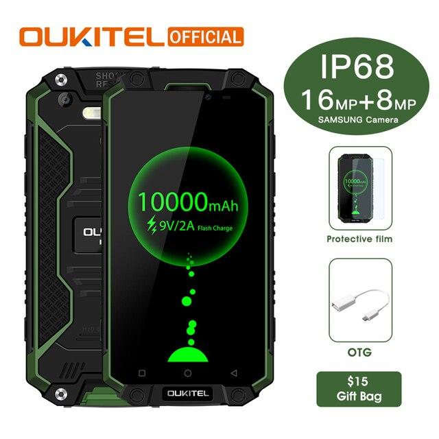 "Oukitel K10000 Max IP68 Waterproof Dustproof Shockproof MTK6753 3G RAM 32G ROM 10000mAh 5.5"" FHD Fast Charge Touch ID Smartphone"