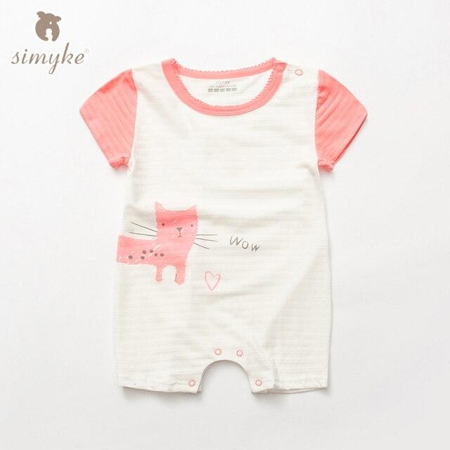 Simyke девочка 2017new jumpersuit младенец хлопка с коротким рукавом боди маленьких малышей одежда для новорожденных clothing w5322