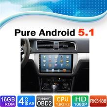 Sistema pure android 5.1.1 sistema de navegación del gps del coche de radio dvd estéreo multimedia video audio autoradio para volkswagen vw lavida 2015
