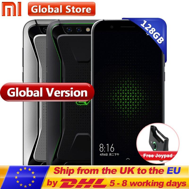 D'origine Mondial Version Xiaomi Noir Shark Gaming Mobile Téléphone 8 gb 128 gb Snapdragon 845 Octa Core Plein Écran 5.99 double 20.0MP