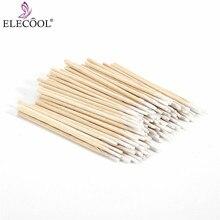 ELECOOL легко переносные 100 шт ватные палочки с мини заостренным кончиком головы Abacterial медицинские стоматологические аксессуары
