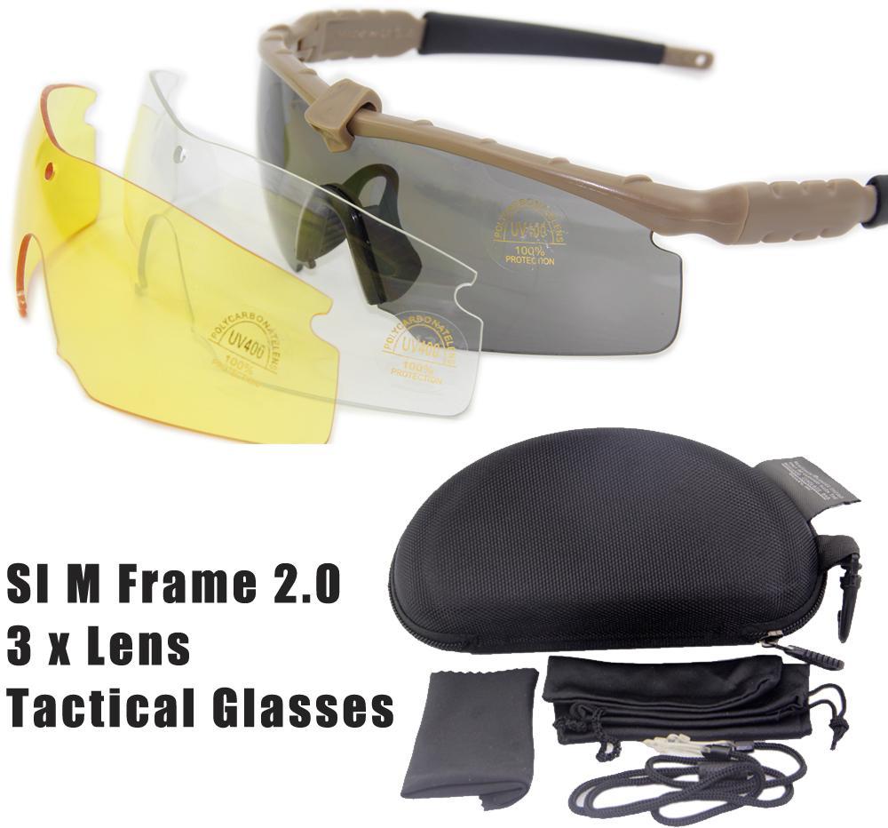 Calidad excelente M Frame 2.0 gafas tácticas del ejército gafas ...