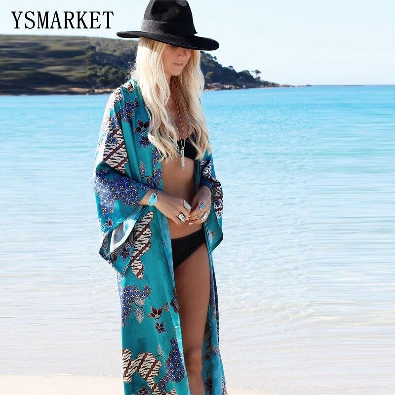 Manteau de plage Cover up Rayonne Maillots De Bain Dames Tuniques Kaftan Plage Sorties Vintage Ethnique Paréo pour les Femmes Robe de Plage F094