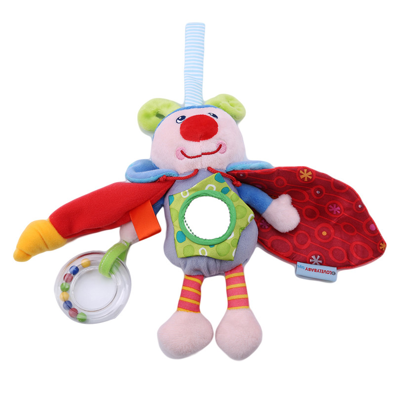 High Quality Lovely  Doll Plush Toys Baby Carriages And Cribs Hang Vocal Sound Bells For Baby's Gift Hanging Toy