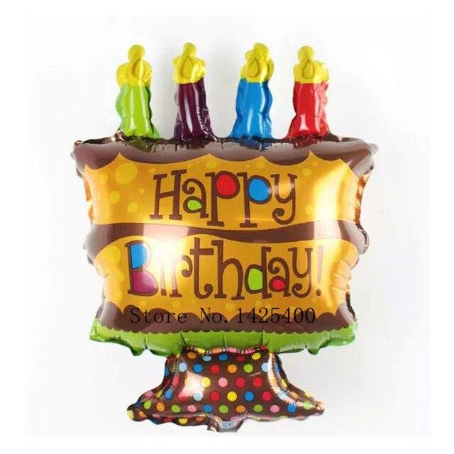 envo gratis linda torta del feliz cumpleaos globos de papel de aluminio globo globos de helio with decoracion globos cumpleaos infantiles