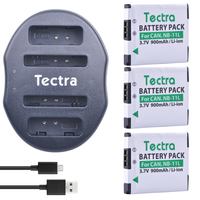 Tectra 3PCS NB 11L NB 11L Battery USB Dual Charger For Canon PowerShot A2300 IS A2600