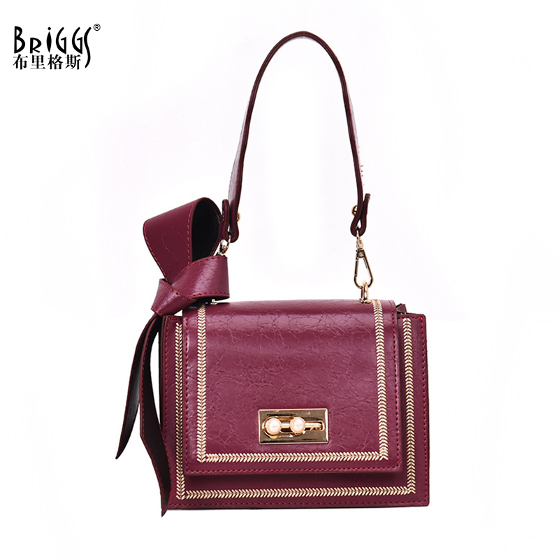 BRIGGS Fashion PU Leather Shoulder Bag For Women Casual Female Handbag Small Flap Bags Ladies Crossbody Bag Sac a main