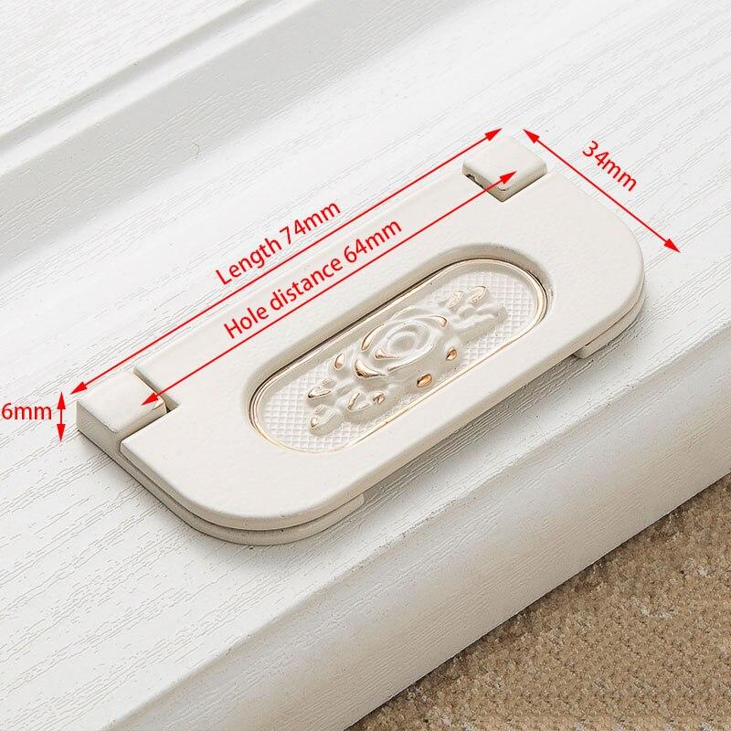 KAK цинк Aolly цвета слоновой кости ручки для шкафа кухонный шкаф дверные ручки для выдвижных ящиков Европейская мода оборудование для обработки мебели - Цвет: Handle-8502-64