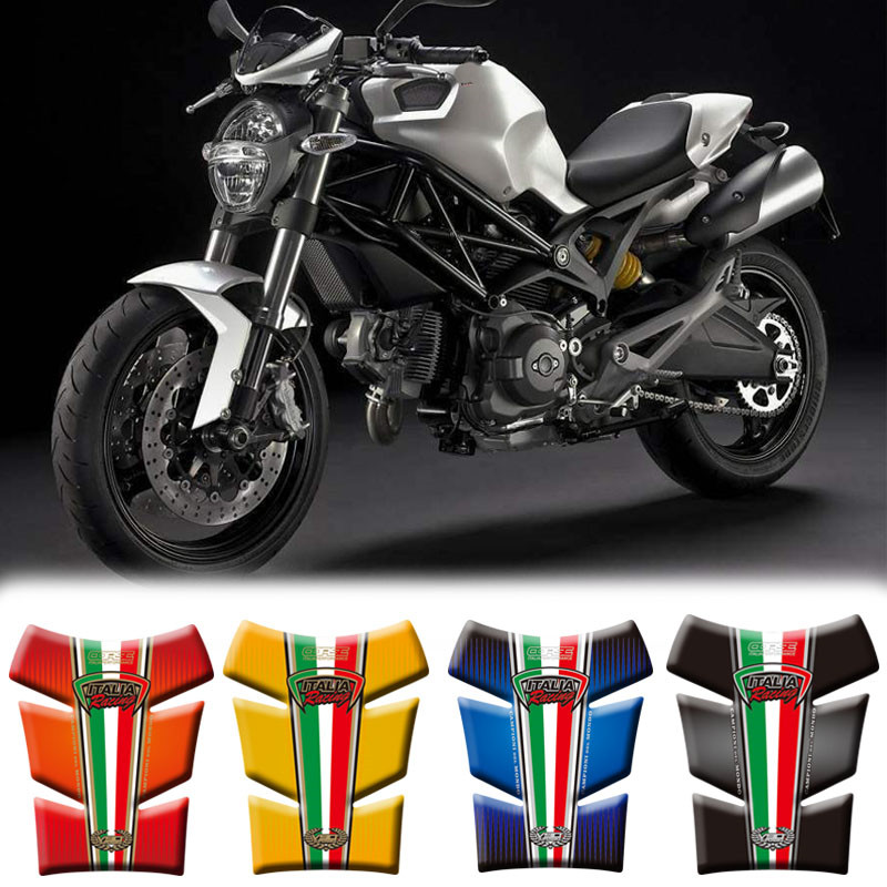 Motorcycle 3D Fuel Tank Pad Protective Stickers Decals For Ducati Monster 2012-2013 Stickers