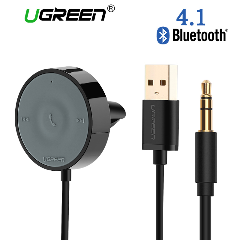 Ugreen USB Bluetooth Receiver Car Kit Adapter  4.1 Wireless Speaker Audio Cable Free for USB car charger for iPhone Handsfree wireless bluetooth audio music receiver handsfree car kit